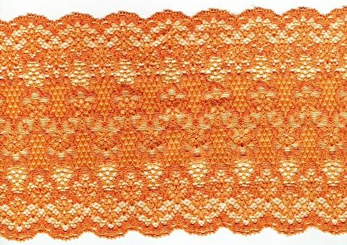 Oranžová meruňka hustá krajka 14 cm