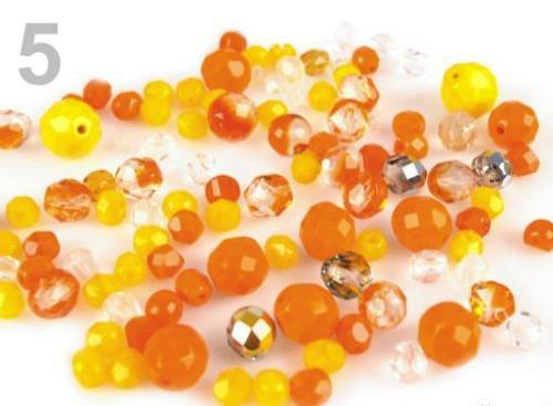 Korálky - ohňovky ramš 50g oranžovožlutý