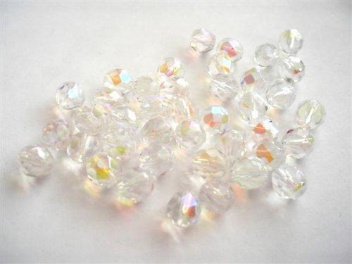 Broušené perle krystal AB