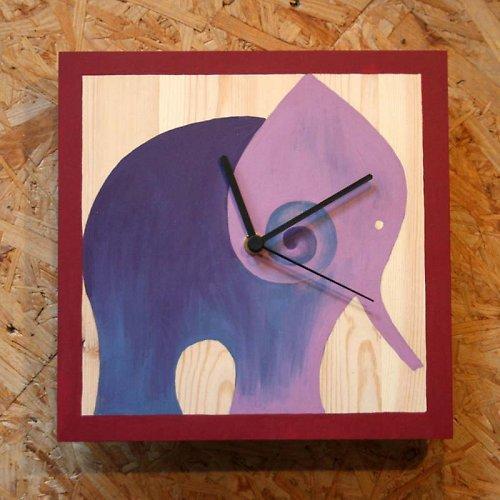 Hodiny - malba na dřevu
