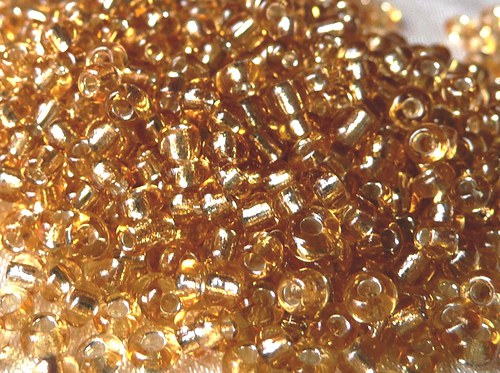 Rocail / Rokajl / Rokail - 2 mm - 30 g - zlatá