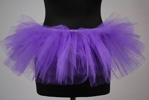 Tylová sukně tmavě fialová