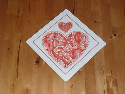 S láskou malované-z lásky ať je darované-červené