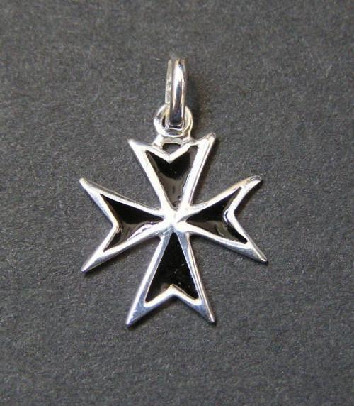Maltézský kříž - stříbrný přívěsek