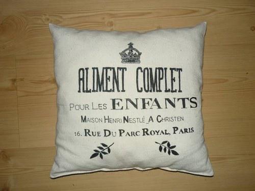 Povlak na polštář ručně psaný ve stylu Provence