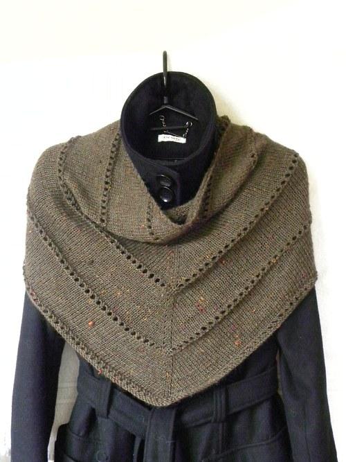 Šátek Tweed hnědý