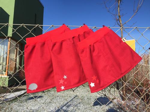 Softshellová sukně / sukénka - červená