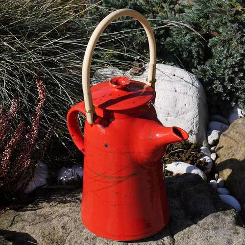 Čajová konvice Zvonice s ratanem 1,2l - Ohnivý rej