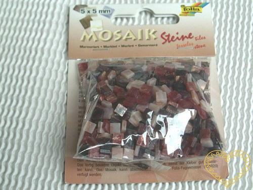 Červená mramorová pryskyřicová mozaika - 45 g