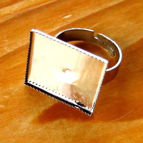 Prsten Čtverec 20mm - 2ks