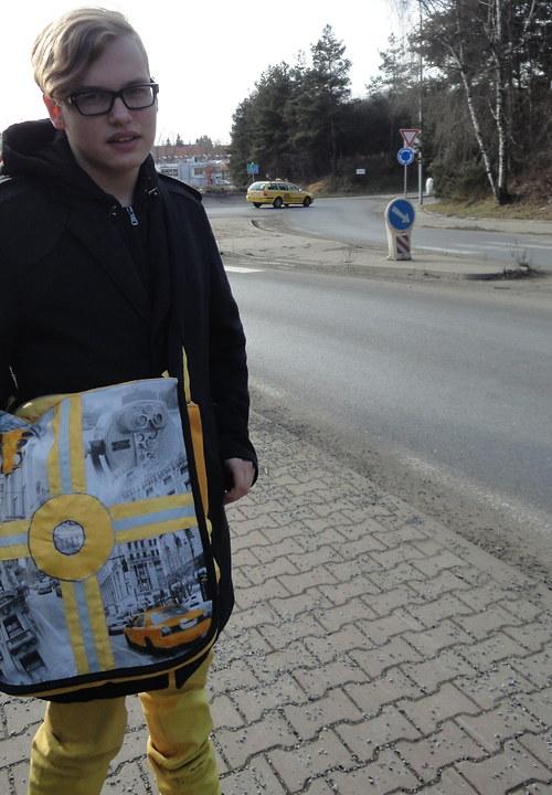 """taška \""""Kruháč se žlutým taxíkem\"""""""
