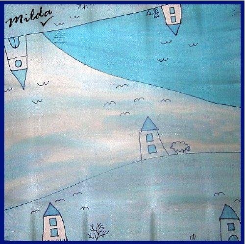 Modrý domečkový