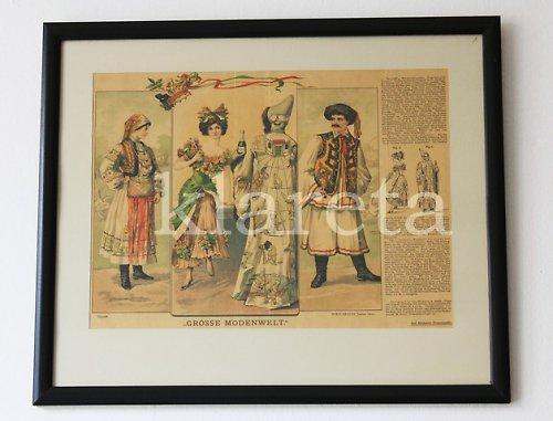 originální módní litografie z roku 1910