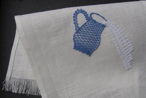 Křestní rouška modrá