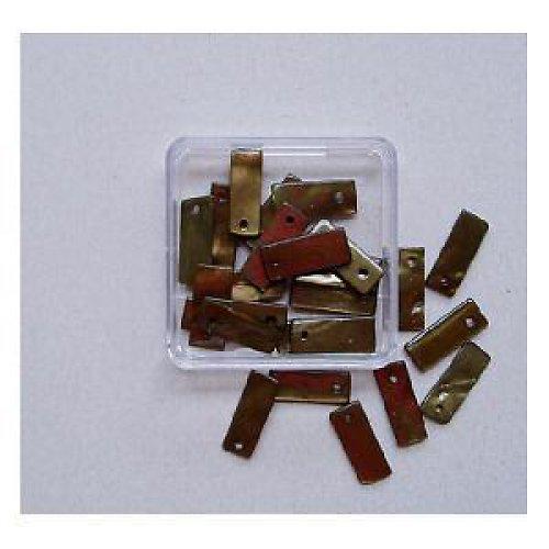 Perleť obdélníky 7x18mm 25ks-oliv.zelené