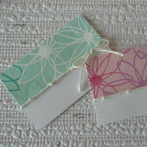 Kartičky ke květince 2ks