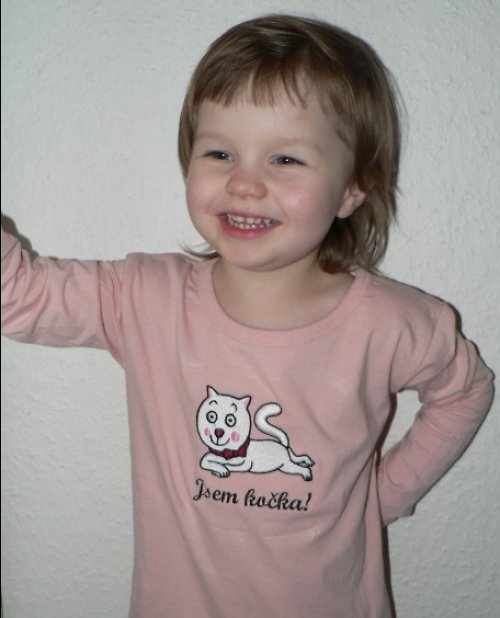 Dětské tričko Jsem kočka