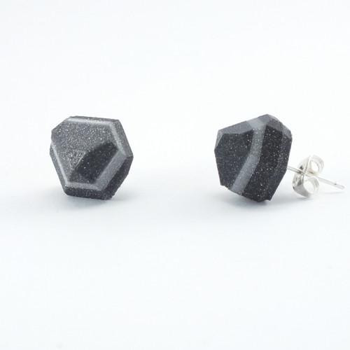 Náušnice krystal vertigo grey/silver
