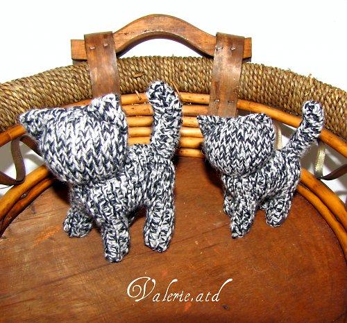 Kočičky z ovčí vlny a rouna