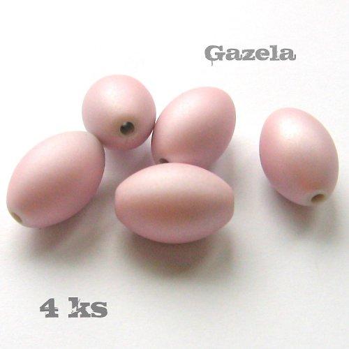 Olivy pogumované růžové - 4 ks