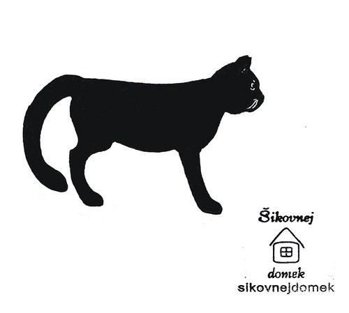 Razítko kočka 1 - v.3,7x7cm