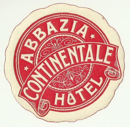 Hotelové nálepky Abbazia Hotel