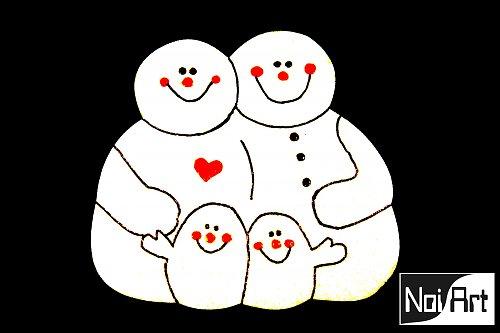 Snehuliaci rodinka
