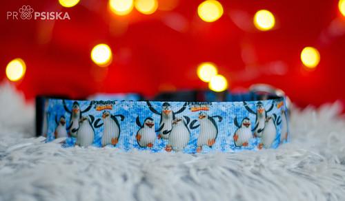 """Obojek \""""tučňáci z Madagaskaru\"""" - 30 - 40 cm"""
