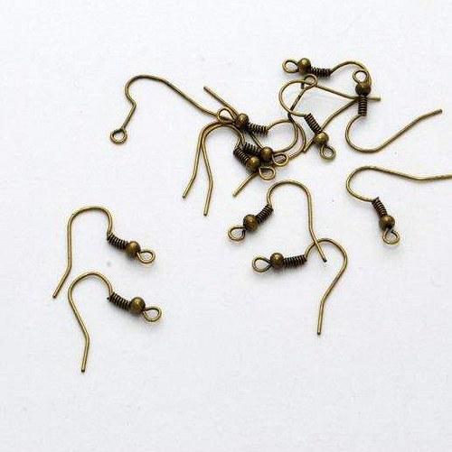 Afroháček 50 ks / antik bronz / 18 mm
