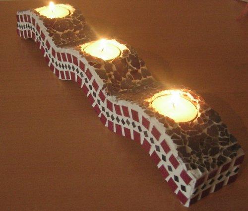 Svícen na čajové svíčky - vlna