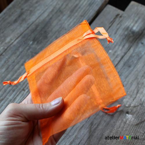 Organzový sáček 2ks - oranžová L