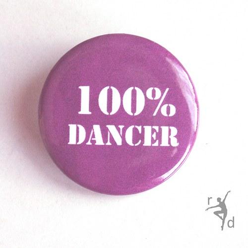 Placka 100% DANCER (Odznak)