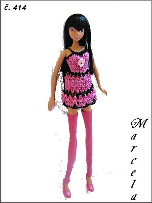 mini šaty na panenky  Hi glamm