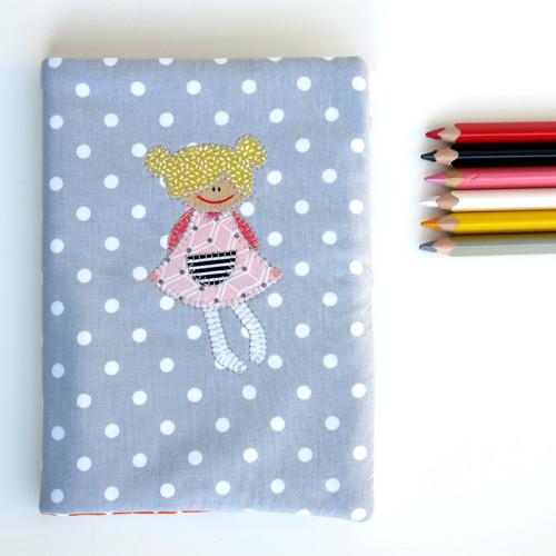 Kabátek na deník - šedivý - holčičkový