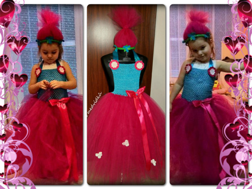 Karnevalový kostým - Poppy Troll