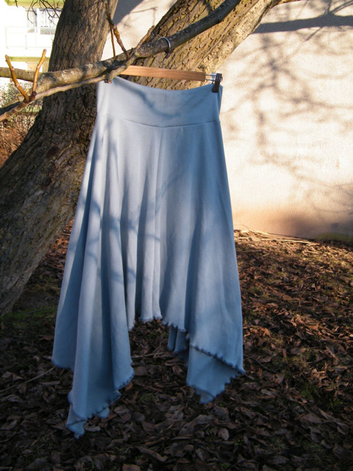 Cípatá sukně šedivá