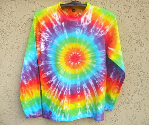 Batikované tričko Duhovka, XL