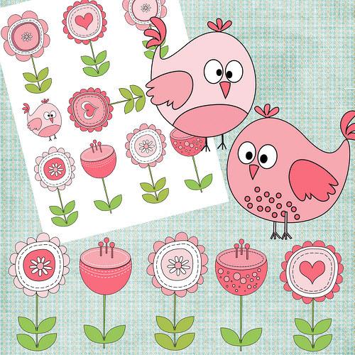 Nažehlovací obrázky - Flower  - cena za všechny