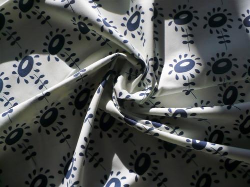 Modrý květ - kepr (látka)