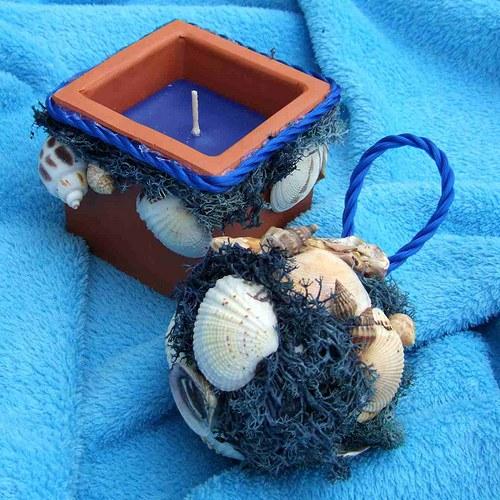 Svíčka-dekorační(mořská)