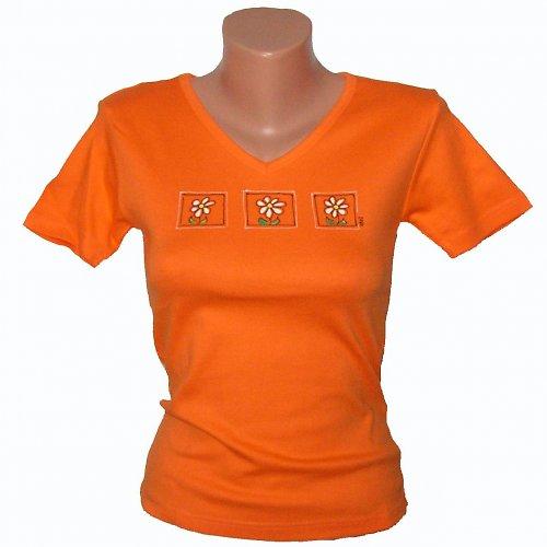 Triko malované - oranžové