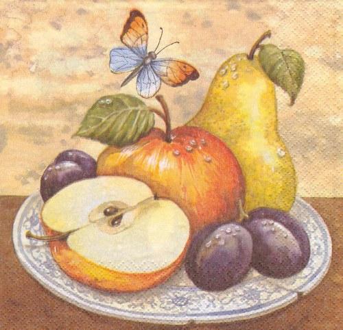 Ubrousek - zátiší s ovocem