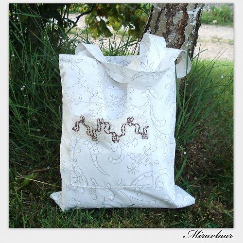 Taška s ručně paličkovanou krajkou -SLEVA