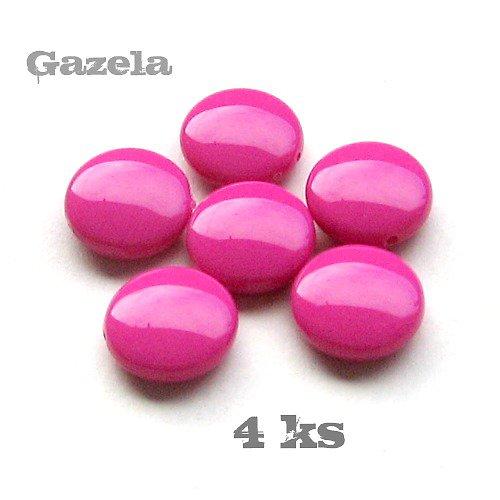 Čočky tmavě růžové - 4 ks