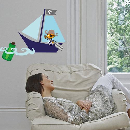 Jednooký pirát - samolepka na zeď