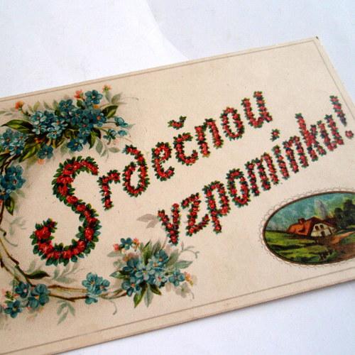 SRDEČNOU VZPOMÍNKU ! - pohlednice č. 1351