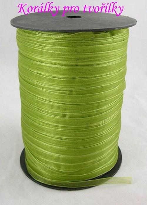 Organza - stuha zelená 1m/3,- kč