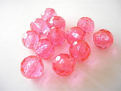 Plastové kuličky 20mm růžové