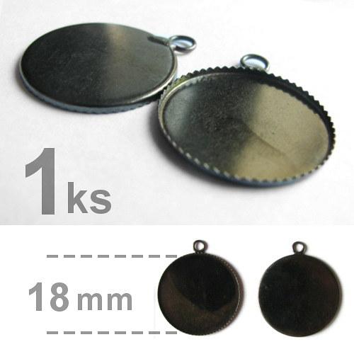 Lůžko - kruhové - zubatý okraj (18mm) - gunmetal