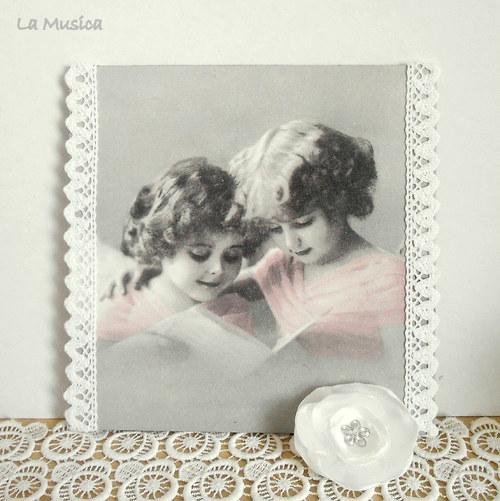 Andělé a noty - obrázek